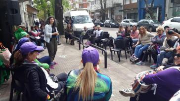 Workshops und Diskussionen fanden in La Plata auch auf der Straße statt