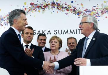 Argentiniens Präsident Mauricio Macri feierte die Unterzeichnung des Mercosur-EU-Abkommens auch als Erfolg seiner Regierung