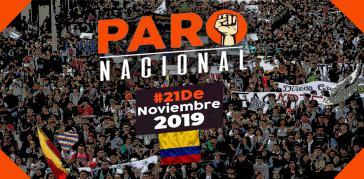 Mobilisierung zum Streik am 21. November 2019 in Kolumbien