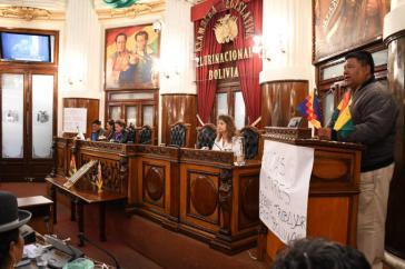 Sergio Choque wurde zum neuen Präsidenten der Abgeordnetenkammer gewählt