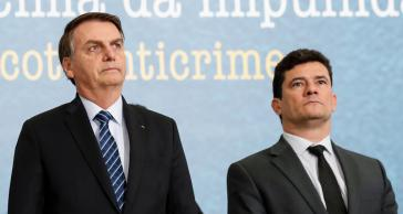 Ex-Bundesrichter Sérgio Moro (rechts)wurde für seine Arbeit von Jair Bolsonaro mit dem Posten des Justiz- und Sicherheitsministers belohnt