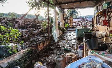 Durch die Erzschlammwelle wurden ganze Dörfer zerstört