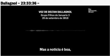 """Für Staatsanwalt Dallagnol ist das Verbot des Lula-Interviews laut Intercept-Leaks """"eine gute Nachricht"""" (Screenshot)"""