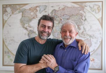 Verbündete: Marcelo Freixo von der Partei für Sozialismus und Freiheit und Lula da Silva von der Arbeiterpartei