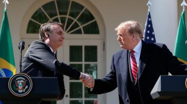Voll des Lobes füreinander: Die Präsidenten von Brasilien, Jair Bolsonaro, und den USA, Donald Trump, am Dienstag  in Washington