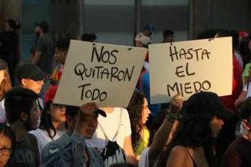 """""""Sie haben uns alles genommen - bis hin zur Angst"""":  Proteste in Bucaramanga"""