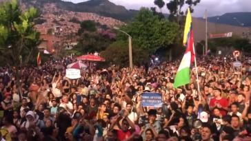 """""""Cacerolazo"""" am Sonntag in Medellín"""