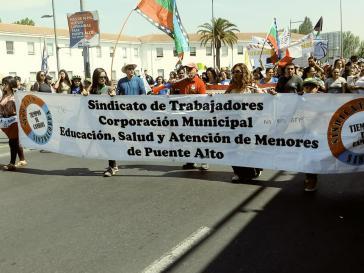 Gemeindeangestellte in Puente Alto beteiligten sich ebenfalls am Streik