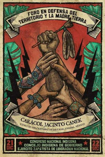 Plakat zum Forum in Chiapas