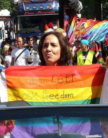 Vorkämpferin für LGBTQ-Rechte in Kuba: Mariella Castro, hier bei einer Demo in Hamburg