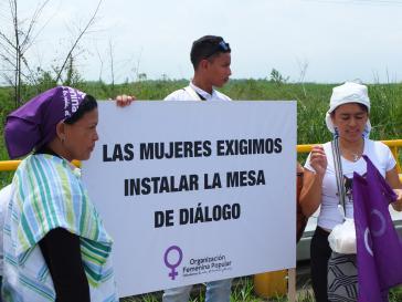 """Auf der Demonstration in Kolumbien am 8.März 2019: """"Wir Frauen fordern den Beginn des Friedensdialogs"""""""