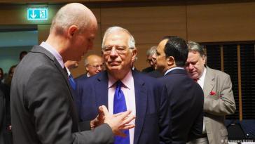 Spaniens Außenminister Josep Borell nach dem EU-Außenministertreffen