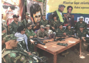 Die bereits wiederbewaffneten Guerilleros der neuen Farc-EP in Kolumbien werden auf 1.800 Personen geschätzt