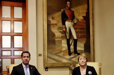 Auch mit Parlamentspräsident Juan Guaidó traf sich die UN-Kommissarin