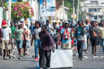 Die Proteste finden vor allem in der Hauptstadt von Haiti, Port-au-Prince, statt