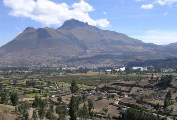 Blick auf die Landschaft in der Provinz Imbabura