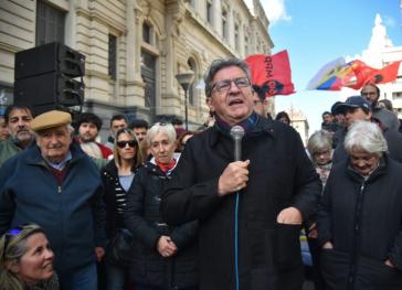 Jean-Luc Mélencon bei seinem Besuch in Uruguay