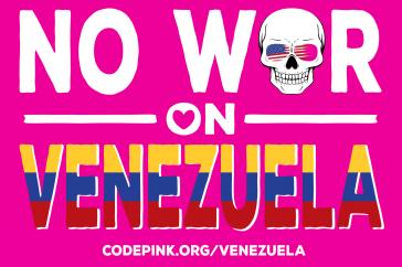 Die Kriegsgegnerinnen von Code Pink kritisieren die Interventionspolitik der USA in Venezuela