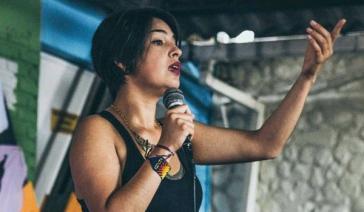Andrea Rincón Acevedo, soziale Aktivistin und Sprecherin von  Ciudad en Movimiento