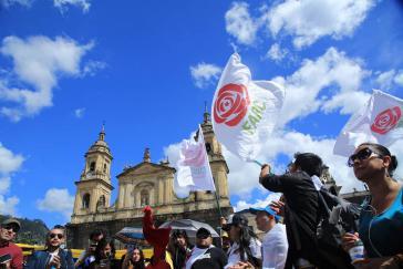 Anhänger der Farc-Partei in Kolumbien