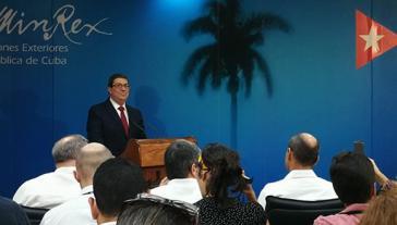 Kubas Außenminister Bruno Rodríguez warnte bei der internationalen Pressekonferenz am Donnerstag vor den Konsequenzen der US-Politik