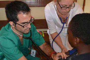 Kubanische Helfer in Jamaika
