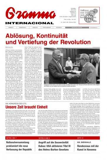 Deutsche Ausgabe der Granma Internacional