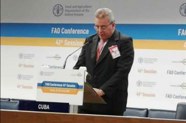 kubanischer Landwirtschaftsminister Gustavo Rodríguez