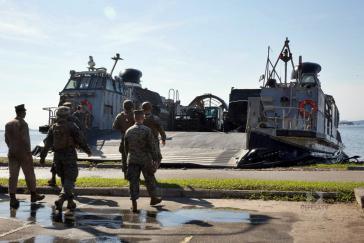 Militärs beim Manöver Unitas LX 2019 in Brasilien