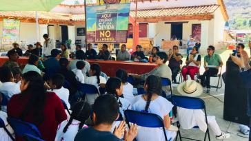Organisierte Gemeinden in Oaxaca wehren sich gemeinsam gegen Bergbauprojekte (hier bei einer Zusammenkunft im Mai 2019)