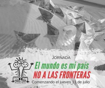 """Motto der Veranstaltungsreihe auf Puerto Rico: """"Die Welt ist mein Heimatland. Nein zu Grenzen!"""""""