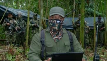 Screenshot aus dem Video der Frente Fuerza Unida del Pacífico (FUP) vom 5. Juni 2019