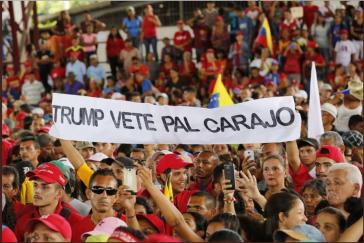 """""""Trump, scher dich zum Teufel"""". Die Ablehnung der US-Interventionen ist in Venezuela weit verbreitet"""