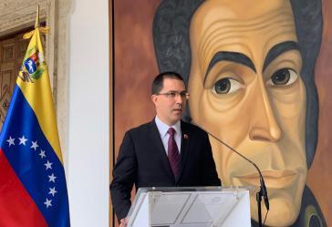 Venezuelas Außenminister Jorge Arreza verlas am Freitag das Kommuniqué