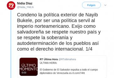 Position des rechten salvadorianischen Präsidenten gegen Venezuela im eigenen Land unter Beschuss