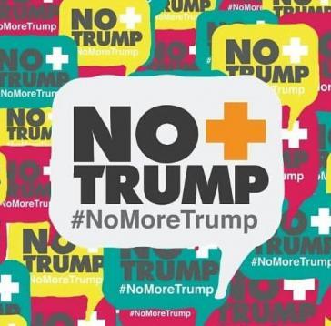 """Unter dem Motto """"No+Trump""""/""""No More Trump"""" fanden am Samstag weltweite Proteste gegen die Sanktionspolitik der Regierung Trump gegen Venezuela statt"""
