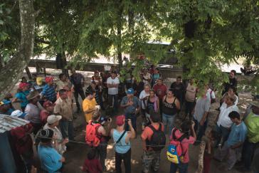 Versammlung gegen den Bergbau am Cerro La Vieja