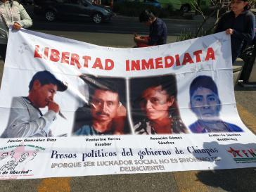 Demonstration für die Rechte von Menschenrechtsverteidigern am Sonntag in Mexiko-Stadt