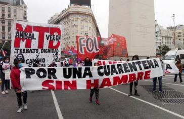"""Bewohner der Armenviertel der Hauptstadt demonstrieren """"Für eine Quarantäne ohne Hunger"""""""
