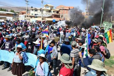 Proteste in Bolivien gegen Putsch-Regierung (Cochabamba, Mai 2020)