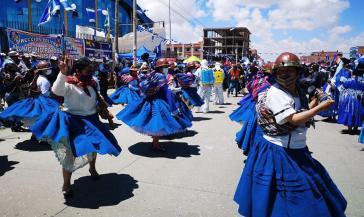 Feier des Wahlsieges der MAS in El Alto am 24. Oktober