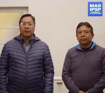 Ihre Kandidatur soll verhindert werden: das Duo Luis Arce (Präsident) und David Choquehuanca (Vize) von der Bewegung zum Sozialismus