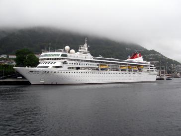 Die MS Braemar, hier in Norwegen, darf nach dem Ausbruch des neuartigen Corona-Virus den Hafen von Havanna, Kuba, anlaufen