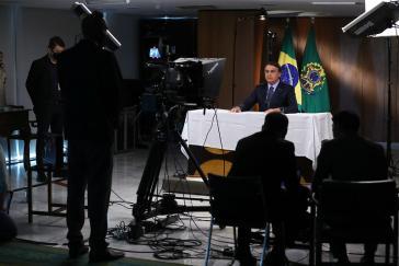 Jair Bolsonaro bei seiner Rede zur Eröffnung der virtuellen UN-Hauptversammlung