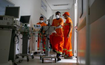 In ihren Ländern dringend gebraucht, von Deutschland angeworben: Pflegekräfte aus Lateinamerika (hier: Brasilien)