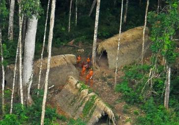 In Brasilien sind 114 nicht kontaktierte indigene Gemeinden verzeichnet, davon sind 28 offiziell von der Funai bestätigt