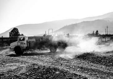 Aufgrund hoher Trockenheit in Chile sind auch die Hygienemaßnahmen wegen der Corona-Pandemie kaum einzuhalten