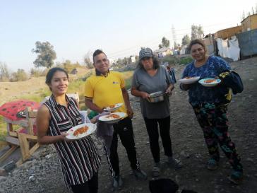 Eine von Frauen organisierte Gemeinschaftsküche in Dignidad,  La Florida