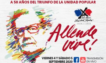 """""""Allende lebt"""" war das Motto der Demonstration am 4. September in Santiago"""
