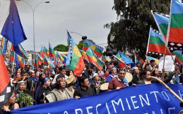 Kämpfen für ihr Land und Selbstbestimmung: Mapuche demonstrieren in Temuco, der Hauptstadt der Region Araucanía (November 2019)